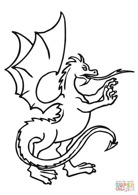Frais Coloriage De Dragon Mignon