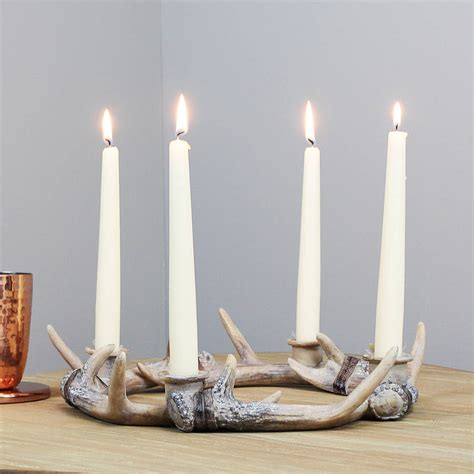 Dachshund Planter stag antler wreath candle holder by marquis amp dawe