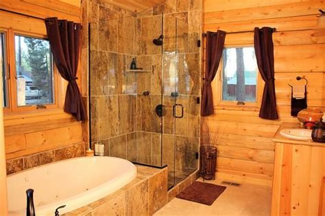 log bathroom log home bathroom glass walk in shower bathrooms