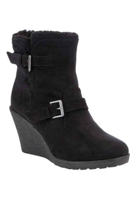 clothing at tesco f f crepe sole wedge ankle boots