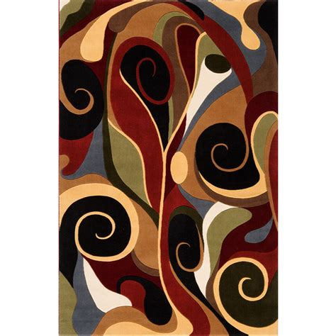 graffiti area rug shop momeni graffiti multi rectangular indoor machine made area rug common 5 x 8 actual 5 25