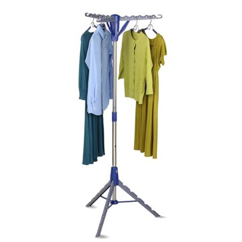 mainstays folding tripod air drying rack gray blue