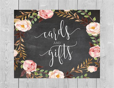 Gift Card Signs - printable cards and gifts chalkboard sign from serenitynowstudio