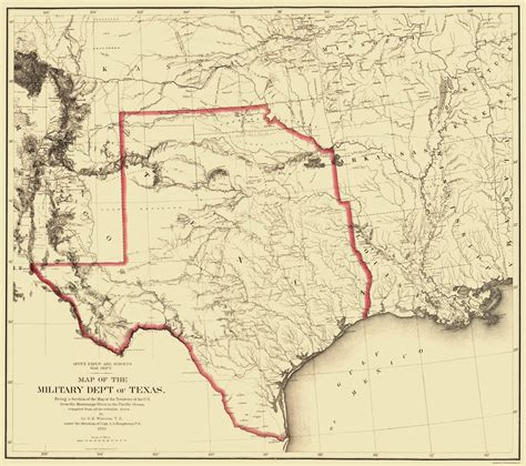 texas territory map state maps texas territory map tx by humphreys 1859