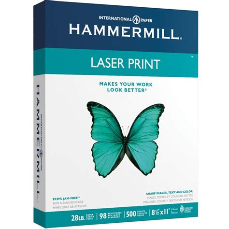 hammermill laser print photo business card lable template 8 5 x 11 24lb writing hammermill laser paper