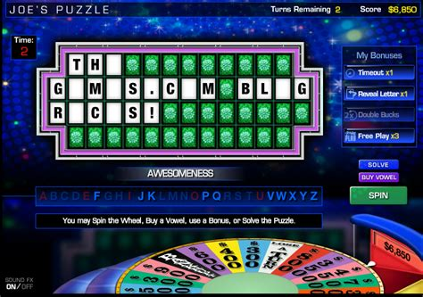 Wheel Of Fortune On Facebook Lets Players Create Their Own Puzzles Aol Games How To Make Your Own Wheel Of Fortune