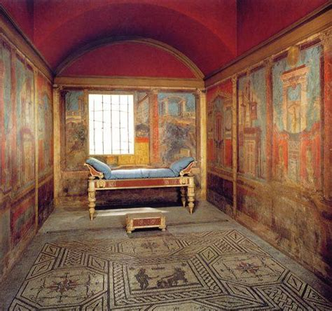 roman bedroom the boscoreale room a well preserved roman bedroom with