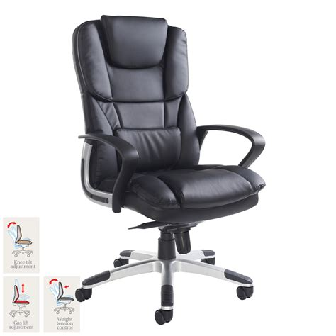 costco armchair palermo leather faced executive chair in black costco uk