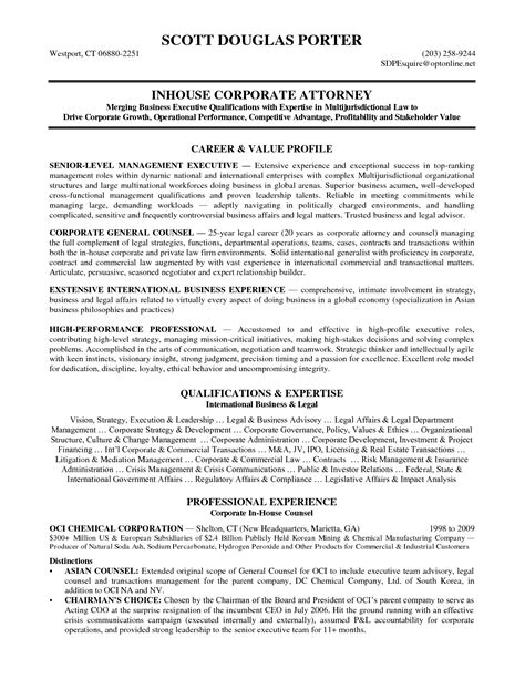 Go Resume by Ideas Collection Sle Resume Of Corporate Lawyer Go