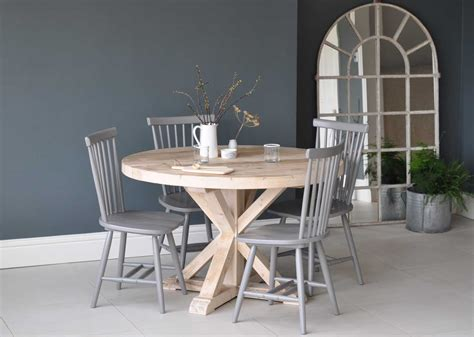 reclaimed wood dining table uk circular reclaimed wood dining table