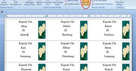 tutorials how to print labels in microsoft word wedding