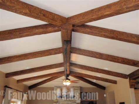 wood beam ceiling install beams on a stippled ceiling faux wood workshop