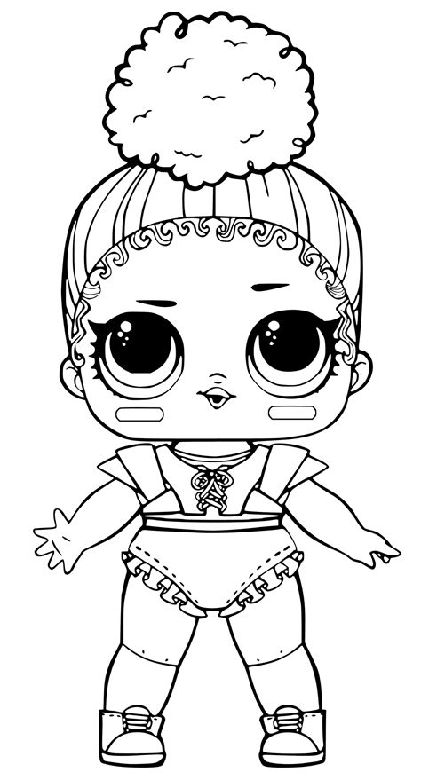 Coloring Page Lol Dolls by Lol Coloring Pages Touchdown Coloring Pages