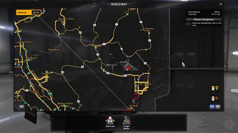 map usa truck simulator map area 51 for american truck simulator
