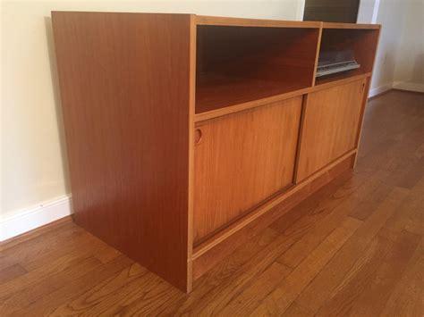 record album storage cabinet danish modern teak audio console storage cabinet epoch