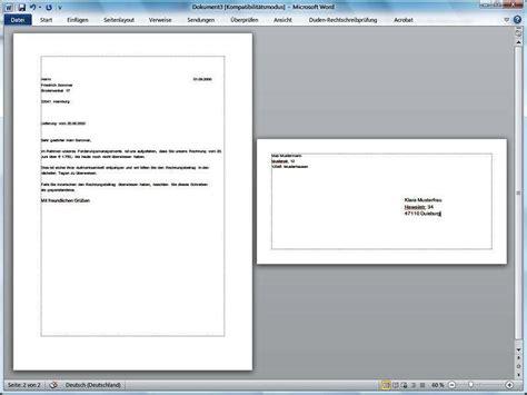 Vorlage Word Umschlag A4 Computer Briefumschlag Drucken Mit Word 27 06 2012 Technik News De