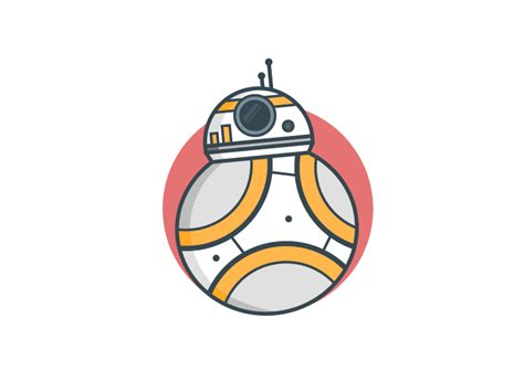 Bb8 Drawing Outline by Bb8 By Arturo Mu 241 Oz Dribbble