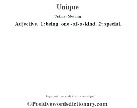 unique means unique definition unique meaning positive words dictionary