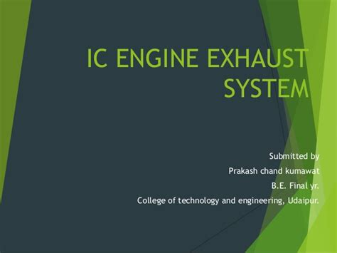 Exhaust System In Automobile Ppt Exhaust System