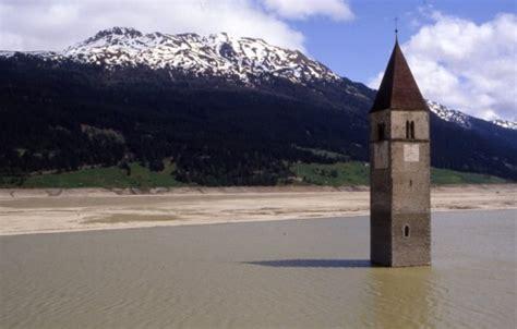 popolare trentino alto adige curon venosta chiesa sommersa