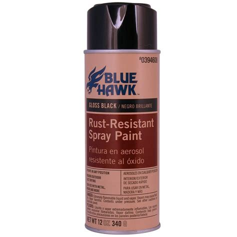 spray painter lowes shop blue hawk 12 oz black gloss spray paint at lowes