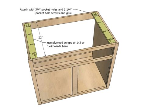 kitchen base cabinet plans free kitchen cabinet sink base 36 full overlay face frame