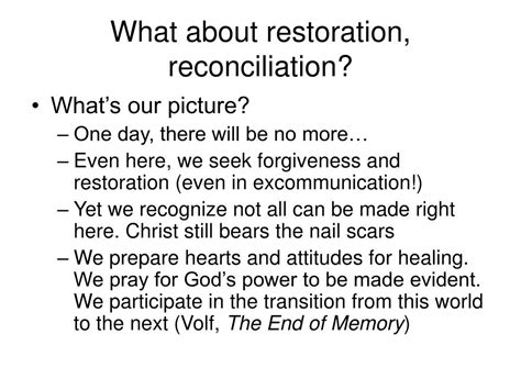 identity restoration believe live the of who you are books ppt repentance restoration a look at how god restores