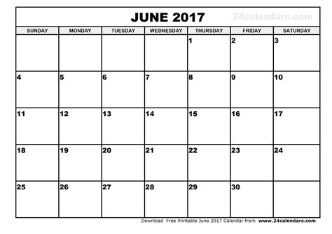 Calendar Of June Free June 2017 Calendar With Us Holidays Printable