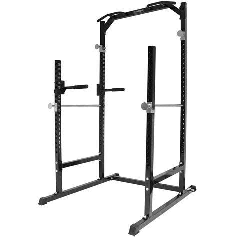half rack bench press mirafit heavy duty half power cage squat gym rack bench