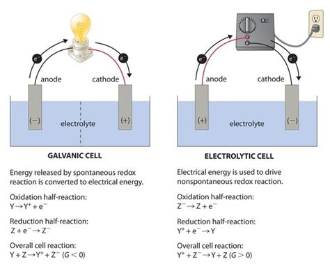 diagram of cathode what is the difference between electrolytic and galvanic