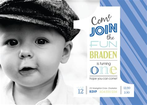 1st birthday invitation for baby boy baby boy 1st birthday invitation templates cloudinvitation