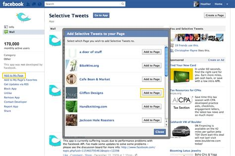 fb page set up quot selective tweets quot to your fb page gliffen designs