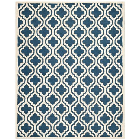 11 x 15 area rug safavieh cambridge navy ivory 11 ft x 15 ft area rug cam132g 1115 the home depot