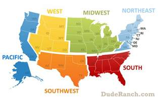 us map east west midwest region midwest info pics maps more dude ranch