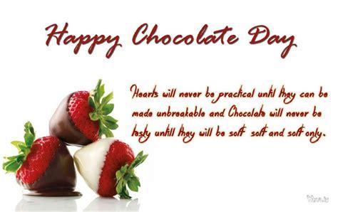 happy chocolate day   strawberry chocolates