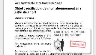 Resiliation Contrat Salle De Sport salle de sport