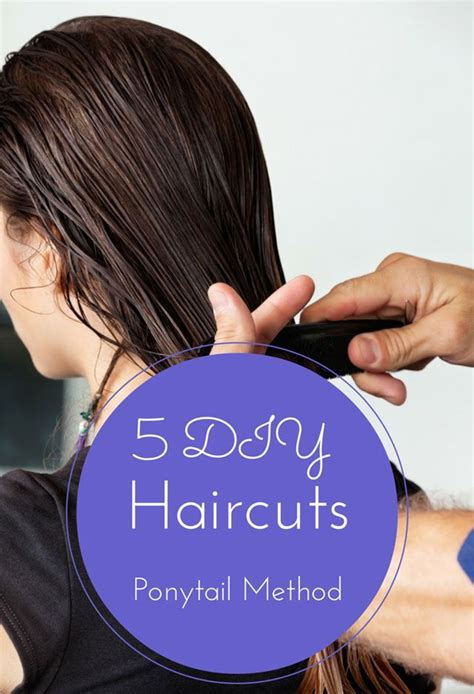 easy hairstyles method 5 diy haircuts ponytail method the 21 day challenge