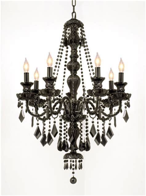 Black Chandelier Crystals G46 Black Sm 490 7 Gallery Royal Collection Jet Black Chandelier