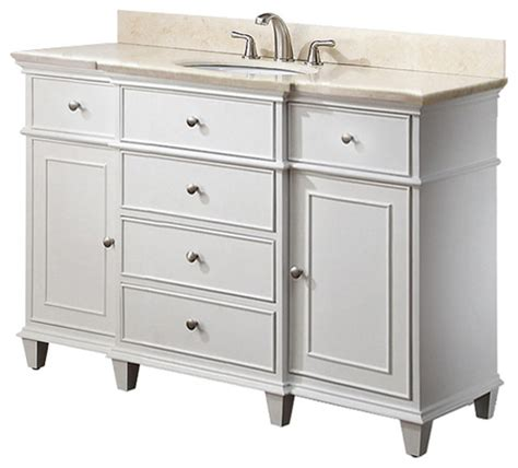 White Sink Vanity by White Bathroom Vanities Traditional Los Angeles By