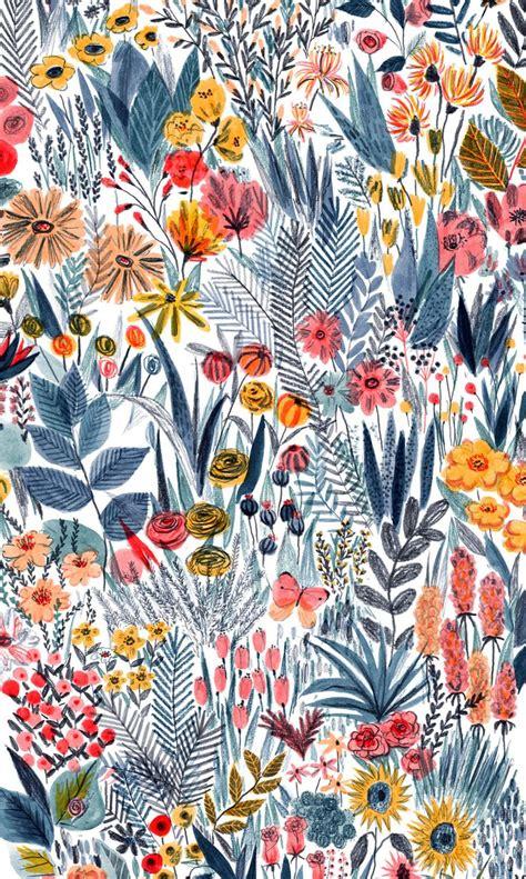 pattern illustration tumblr flowers flora flower and pattern print