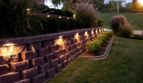 landscape lighting for retaining walls outdoor home structure wall patio lighting san antonio landscaping