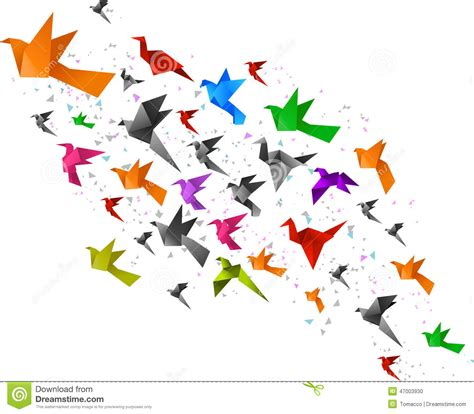 Origami Flying Bird - origami birds flying stock photo image 47003930