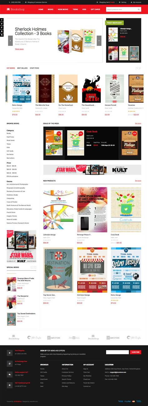 jm bookshop magento bookstore theme for authors writers