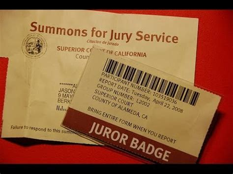 Jury Service Letter Envelope excuse from jury duty letter template