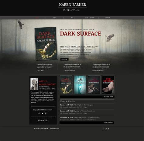Personal Page Wix Website Template 47287 Wix Web Templates