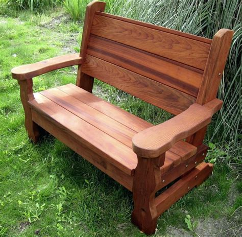 rustic wooden garden benches furniture rustic wooden porch glider for home exterior