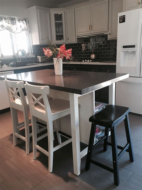 kitchen island stools ikea ikea stenstorp kitchen island hack here is another view