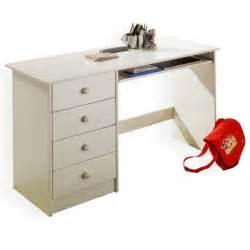 bureau enfant 4 tiroirs lasur 233 blanc achat vente