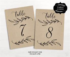 table number templates wedding table numbers 1 40 rustic wedding table numbers