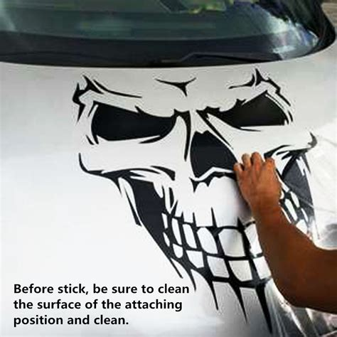 Auto Decals Large by Black Skull Decal Vinyl Large Graphic Sticker Car